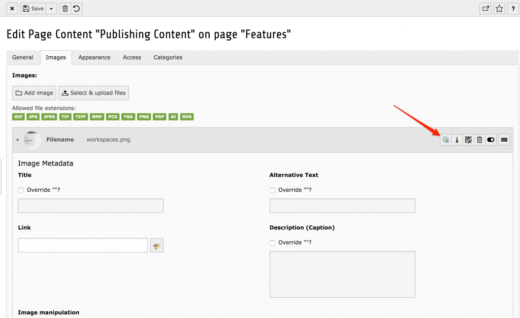 "TYPO3 Extension ""focuspoint"": The Wizard in Content Element"