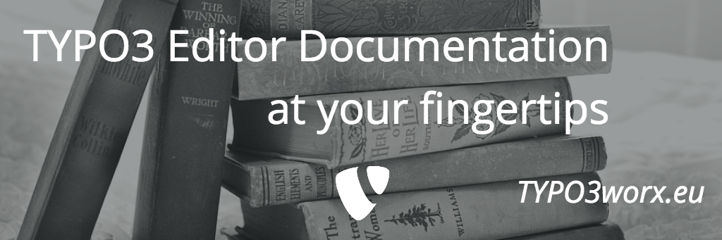 TYPO3 Editor Documentation at your fingertips