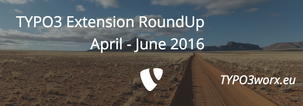 TYPO3 Extension Roundup – Q2 2016
