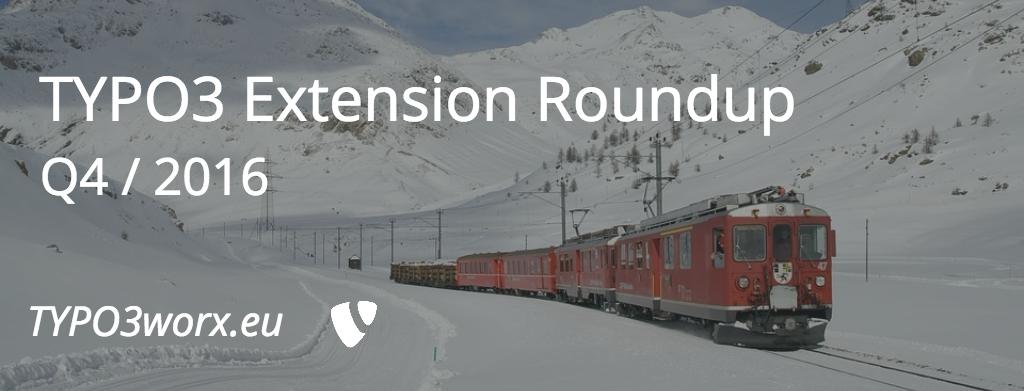 TYPO3 Extension Roundup Q4 – 2016