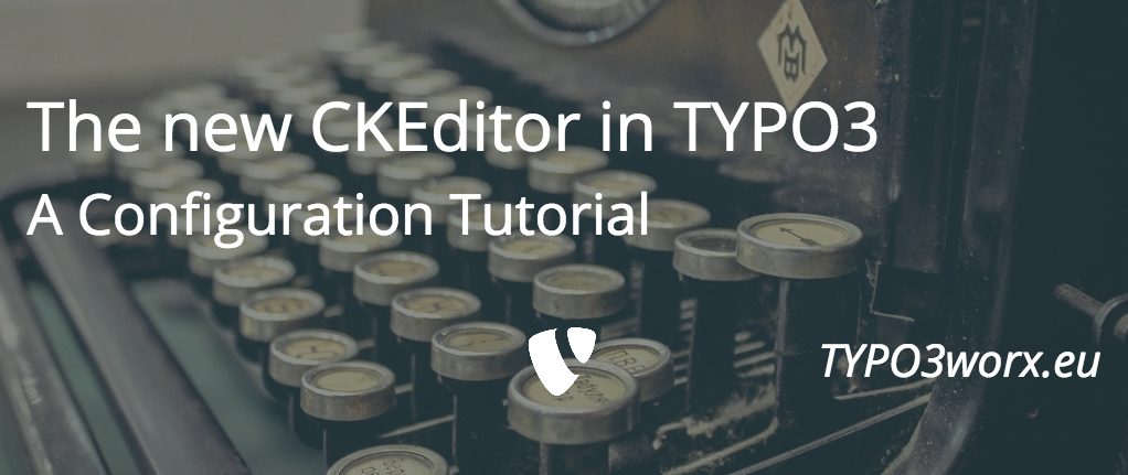 Configure CKEditor in TYPO3
