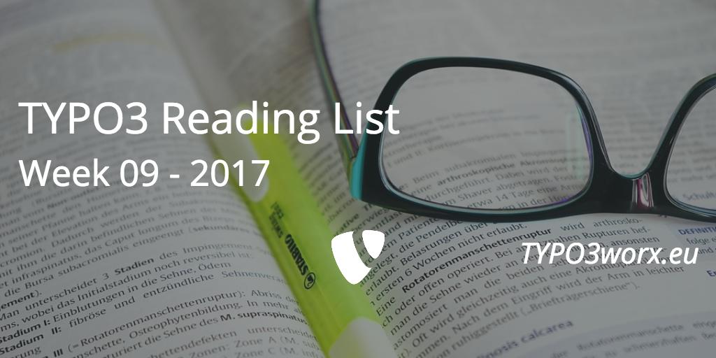 TYPO3 Reading List – Week 09 – 2017