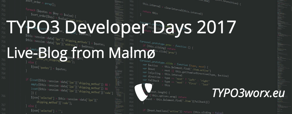 TYPO3 DeveloperDays 2017 Live – Day 1