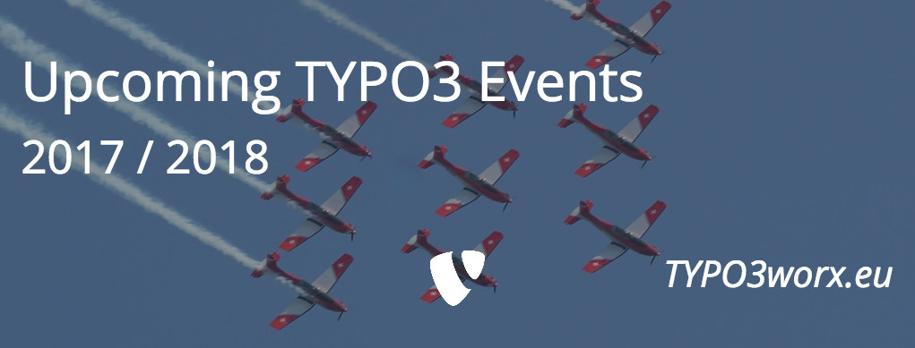 Upcoming TYPO3 Events in 2017 and 2018