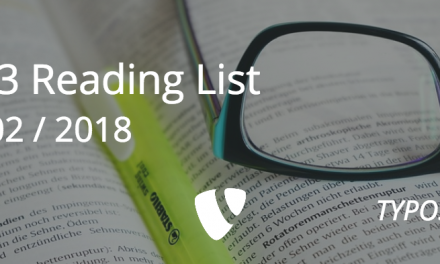TYPO3 Reading List :: Issue 02 – 2018