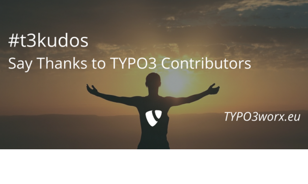 #t3kudos – Say thanks to TYPO3 contributors